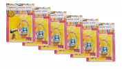 """Set of 6 Basket Shrink Wrap 60cm X 80cm (Pink) with 4 Accent Ribbons Each Ribbon Is 3/8"""" X 0.7m Used for Baskets"""