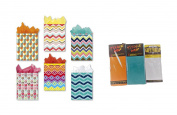 Gift Bags Assorted Set Chevron Pattern 6 Medium Gift Bags 3 Packages Tissue Paper