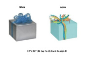 BHYMT Silver and Aqua Gift Wrap Wrapping Paper Each Is 60cm by 240cm Beautiful