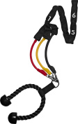 TKO Tricep Crunch Multi-Station Portable Tricep Crunch with Quick-Release Resistance Bands