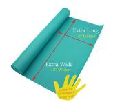 210cm X 90cm X 0.6cm Extra Wide, Extra Long, Extra Thick Teal Yoga Pilates Mat