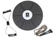U.S. Army Fit Kit - Includes Balance Board, Fig. 8 Resistance Band, and Speed Rope