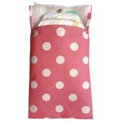 Tiny Tote Along Nappy Bag - Rich Pink Polka Dot Print