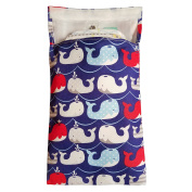 Tiny Tote Along Nappy Bag - Whale Print