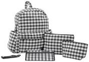 Haru Zipper Backpack Nappy Bag, Sugar Black