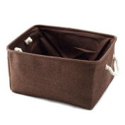 Cute Large Canvas Storage Basket Bin For Organising Baby Toys, Clothing, Books, Gifts.