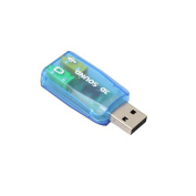 USB 3D External Sound Card,Tuscom Audio Adapter 3D Sound card 5.1 USB To 3.5mm mic headphone Jack Stereo Headset