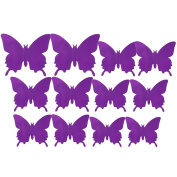 12 Pcs Mirror Butterfly 3D Wall Stickers Party Wedding Decor DIY Home Decoration