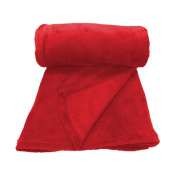 'Soft Throw 125/150 Green Polyester 125 x 150 cm red