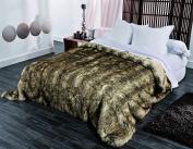 Linder 5011/28 841/250 Bedspread 260 x 250 cm Acrylic/Fur Brown
