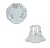 Aromatize Frost Snowflake Candle Lamp & Plate Gift Set