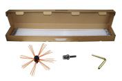 VEVOR Chimney Sweeping Brush Rotary Chimney Brush 800cm Chimney Brush Rod Kit 8 Rods with Nylon Flexible Rods
