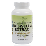 Premium Boswellia Serrata Extract | 500mg 120 Veggie Capsules | Standardised 65% Boswellic Acids with AKBA | Natural Ayurvedic Supplement (Indian Frankincense) for Inflammation and Joint Pain Relief*