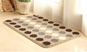 DU & LU Small Rug Mat Doormat Well Woven Modern Kids Room Kitchen Rug Accent Area Rug Entry Way Geometric patterns Carpet Bathroom Soft Durable,50cm ×80cm , A