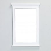 Eviva EVMR709-24WH Elite Stamford White Full Framed Bathroom Vanity Mirror Combination