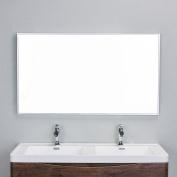 Eviva EVMR01-48X30-MetalFrame Sax 120cm Brushed Metal Frame Bathroom Wall Mirror Combination,,, Brushed Silver