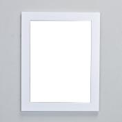 Eviva EVMR514-24X30-WH New York Bathroom Vanity Mirror Full Frame White 24X31 Wall Mount Combination
