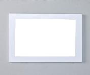 Eviva EVMR514-48X30-WH New York Bathroom Vanity Mirror Full Frame White 48X31 Wall Mount Combination