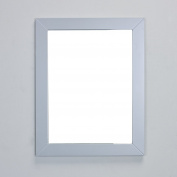 Eviva EVMR514-24X30-GR New York Bathroom Vanity Mirror Full Frame Grey 24X31 Wall Mount Combination