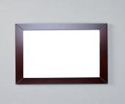 Eviva EVMR514-48X30-TK New York Bathroom Vanity Mirror Full Frame 120cm x 80cm Wall Mount, Teak/Brown