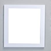 Eviva EVMR514-30X30-WH New York Bathroom Vanity Mirror Full Frame White 30X31 Wall Mount Combination