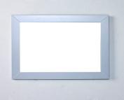 Eviva EVMR514-48X30-GR New York Bathroom Vanity Mirror Full Frame Grey 48X31 Wall Mount Combination