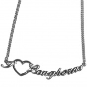 "NCAA 46cm Team Chain Necklace With ""I Heart Team"" Love Script Pendant"