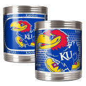 College Stainless Can Holder Set with Metallic Graphics