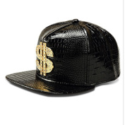 MCSAYS Fashion Hip Hop Style Crystal CZ Iced Out Dollars Pendant Snapback Bling Bling PU Leather Sports Hats Baseball Cap