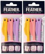 Feather Flamingo Facial Touch-up Razor