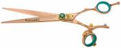 Kissaki Hair Scissors Gokatana 18cm Double Swivel Rose Gold B Titanium Hair Cutting Shears