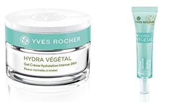 Yves Rocher Hydra Vegetal 24H Intense Hydrating Gel Cream + Fresh Gel undereye Bags