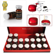 A Set of Ruby Cell 4U Ampoule and Home Care System