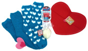 Maybelline Baby Lips Balm Ball Bit of Berry and Blue Fuzzy Socks, Heart Shaped Soap and Red Felt Heart Envelope