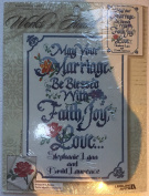 "Words of Heart ""Marriage Blessing"" Counted Cross Stitch"