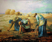 """Needlepoint Kit """"the Gleaners"""" 19.7""""x15.7"""" (50x40cm.) printed canvas 561"""