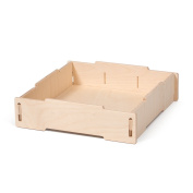 Unfinished Large Wooden Storage Tray, American Made - By Sprout