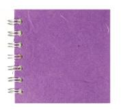 Zen Pink Pig, 10cm x 10cm Square Sketchbook | 35 White Sheets, 45kg | Purple