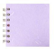 Zen Pink Pig, 10cm x 10cm Square Sketchbook   35 White Sheets, 45kg   Lilac
