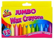 LIVERPOOL ENTERPRISES LTD Jumbo Wax Crayons 12 Colours For Kids Arts And Crafts