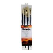 Princeton Artist Brush Dakota, Mixed-Media Brushes for Acrylic, Oil, Watercolour Series 6300, 4 Piece Professional Set 500