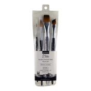 Princeton Artist Brush Elite, Brushes for Watercolour Series 4850, 4 Piece Professional Set 400