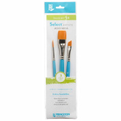 Princeton Select Artiste, Mixed-Media Brushes for Acrylic, Oil, Watercolour Series 3750, 3 Piece Value Set 114