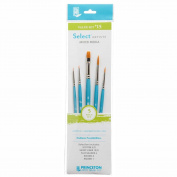 Princeton Select Artiste, Mixed-Media Brushes for Acrylic, Oil, Watercolour Series 3750, 5 Piece Value Set 115