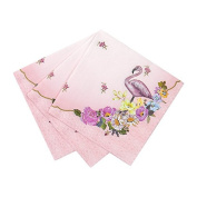 Talking Tables Truly Flamingo 20cm Floral Paper Cocktail Napkins for a Birthday or Flamingo Party, Pink