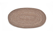 moycor Jute Table Single - , 35 x 45 x 0.5 cm, Natural and Beige