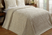 Better Trends / Pan Overseas 240cm x 280cm Rio Bedspread, Full, Ivory