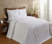 Better Trends / Pan Overseas 240cm x 280cm Rio Bedspread, Full, White
