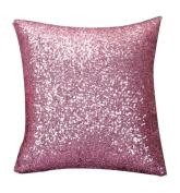 Beudvo Square Glitter Sequins Throw Pillow Case,40cm40cm