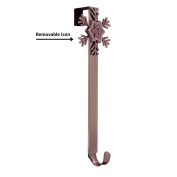 Adjustable Length Wreath Hanger with Removable Icon